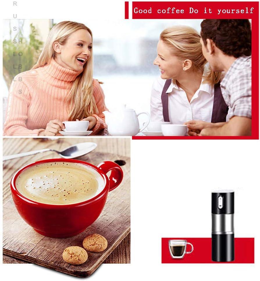 machine Tasse a Café Électrique Portable,Contrôle Intelligent a Café À Meulage Facile,Petit Moulin a Grains De Café Domestique Rechargeable LN White