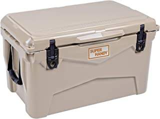 SuperHandy Rotomolded Cooler Ice Chest Enhanced 45QT Keeps Ice Up to 10 Days Commercial Grade Food Safe Dry Ice Compatible UV Protection Gasket Bottle Opener for BBQs, Tailgating & Outdoor Activities