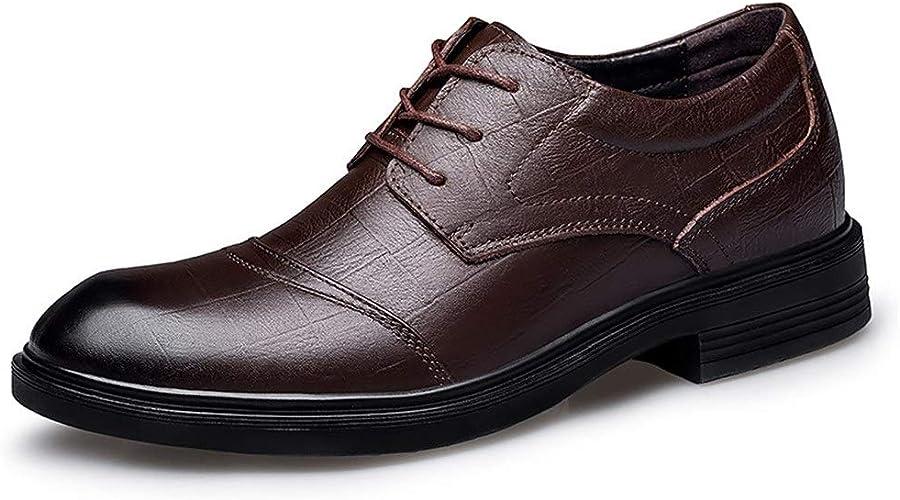 Mamrar Chaussures Oxford for Hommes Chaussures habillées for Hommes Cravate Business Dating Party Low for Aider Les végétariens à Fond Plat Non-Slip Tête Ronde en Relief EU