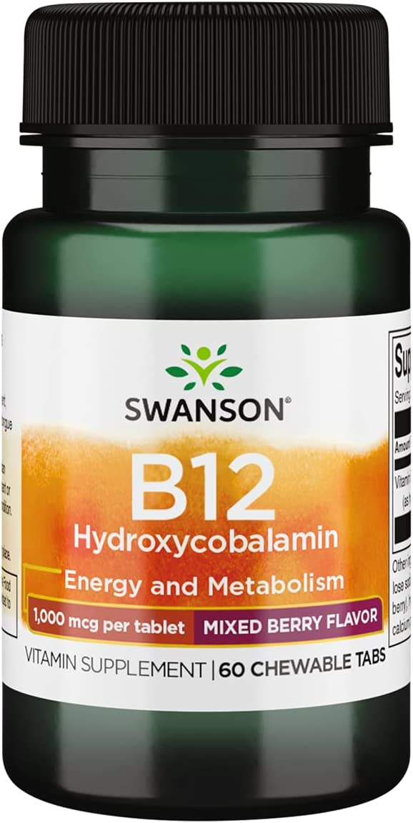 Swanson quality assurance Supplemelts SEAL limited product Vitamin B-12 mcg Chwbls 60 1000