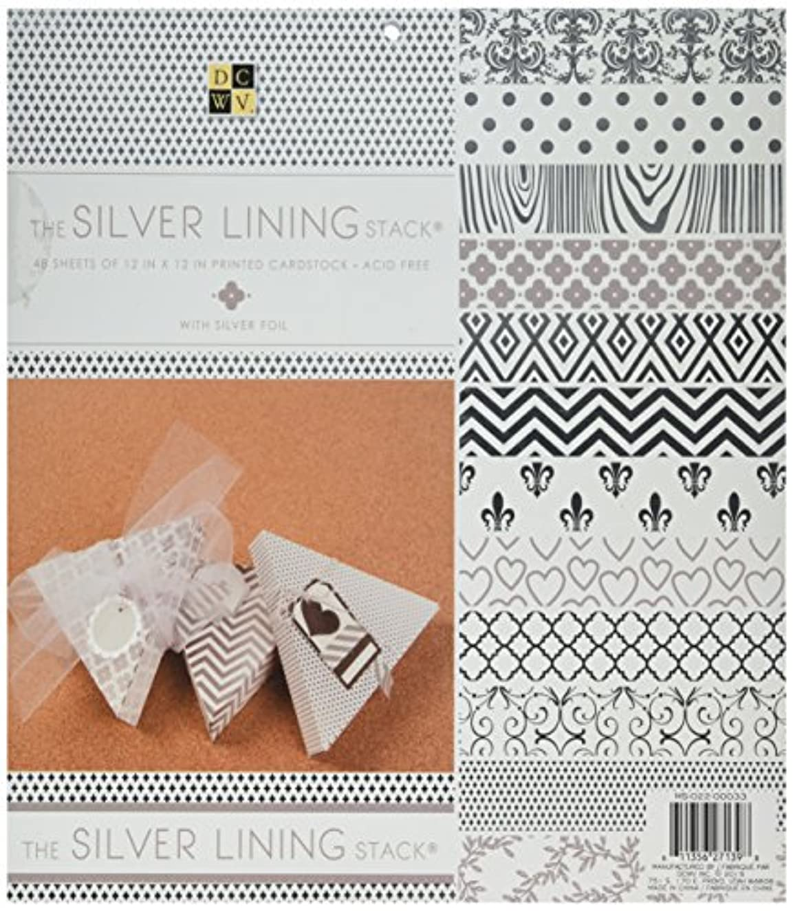 American Crafts 12 x 12 Inch Silver Lining 48 Sheets Die Cuts with a View Stacks, 12