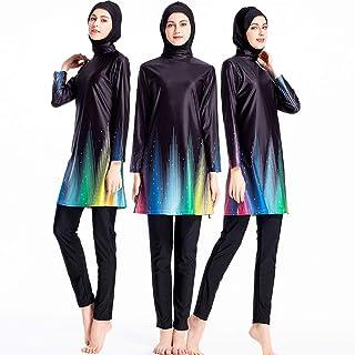 772a830d4e ziyimaoyi Femme Taille Plus Floral Maillots de Bain Musulman Islamique  Maillot de Bain Muslimah Natation Surf