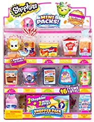 Miniature, real-life inspired packaging with a mystery Shopkin inside! Exact styles and characters included may vary from image Includes 8 Mini Pack and 8 Shopkins For the first time ever, Shopkins from Season 1 through 3 return in its original color...