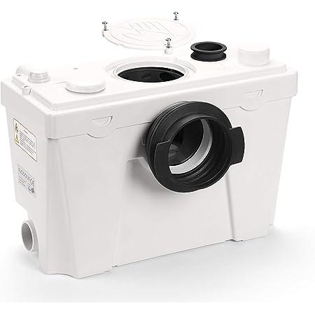 Flosoln - Triturador sanitario de 500 W, bomba trituradora, bomba de elevación, 4 entradas para inodoro, lavabos, fregaderos, duchas, bañera, placa de inspección extraíble