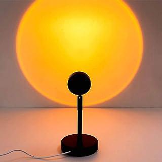2021 New Sunset Proyección de luz de piso Rainbow Modern Led Floor Light Living Room Stand Light Dormitorio Proyector Lámpara de pie, USB Powered Sunset, Sun, Rainbow Light (Sunset)