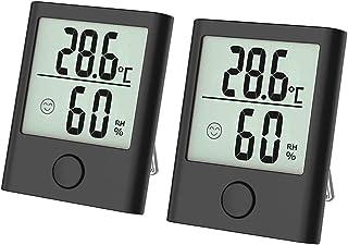 Thermo hygrometer, luftfuktighetsmätare inomhus digital termo-hygrometer fuktmätare fukt digital med hög noggrannhet, lämp...