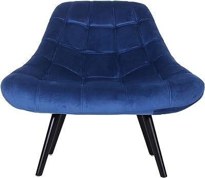 Lot de 2 fauteuils Danios Velours Bleu: : Cuisine