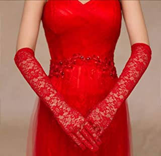 Deluxe Lady Lace Grove Black Red White Long Glove Opera Hen's Night Party