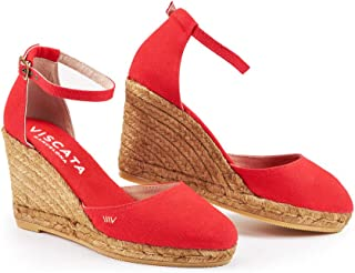 abcd679894e2 Amazon.com  Red - Platforms   Wedges   Sandals  Clothing