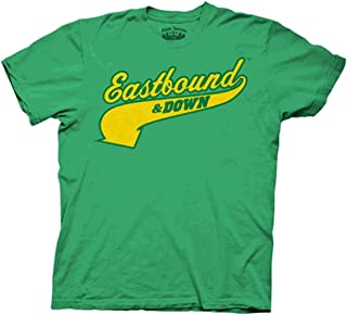 Eastbound and Down Charros Kenny Powers 55 Jersey Green Adult T-Shirt Tee