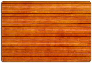Modern Non Slip Orange Smooth Bamboo Wood Board Home Bathroom Bath Shower Bedroom Mat Toilet Floor Door Mat Rug Carpet Pad...