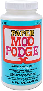 Mod Podge Waterbase Sealer, Glue and Finish for Paper (16-Ounce), CS11234 Matte Finish