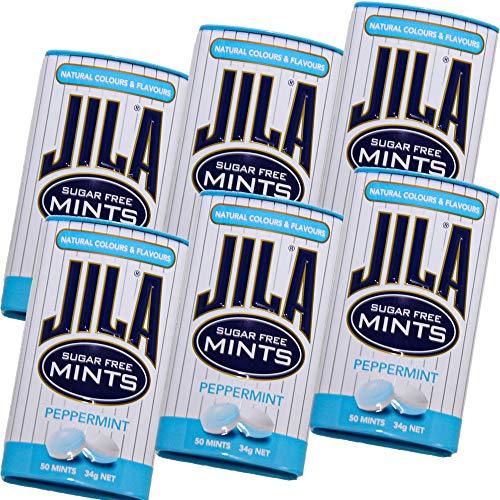 ジラ JILA ミントタブレット ペパーミント 34g 6缶セット 送料無料 お口スッキリ リラックス