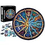 Puzzle Adultos 1000 Piezas, Redondo Puzzle Rompecabezas, Puzzle Creativo, Apto para Niños Mayores de 14 Años (Constelación)