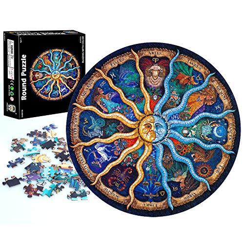 Puzzle 1000 Teile, Puzzle Erwachsene, Impossible Puzzle Rund, Kinder Puzzle Spiel Geschenk, Geschicklichkeitsspiel für die ganze Familie, Erwachsenenpuzzle ab 14 Jahren (Konstellation)