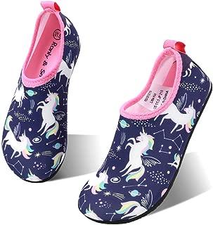okilol Kids Water Shoes Non-Slip Quick Dry Swim Barefoot Beach Aqua Pool Socks for Boys & Girls Toddler