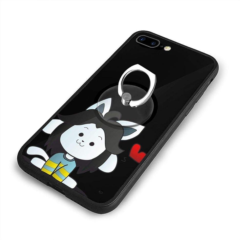 要求する結婚したクリスチャンUndertale TemmieiPhone 7/8 Plusケースリングブラケット 携帯カバー 創意デザイン軽量 傷つけ防止 360°回転ブラケット 携帯ケース PC 衝撃防止 全面保護