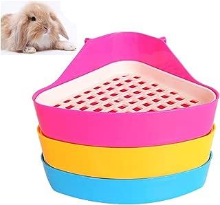 Giveme5 Small Animal Triangle Toilet Potty Trainer Pet Pee Corner Litter Tray Training for Hamster Chinchilla Guinea Pig Cat Bunny Ferret (Color Random)