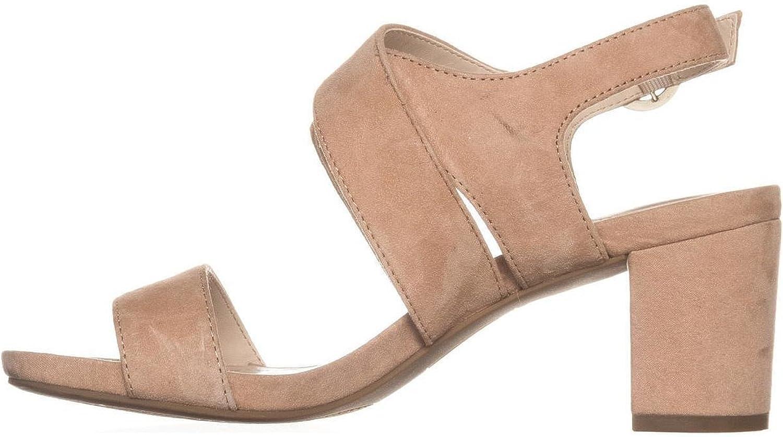 Alfani Womens Regann Leather Open Toe Casual Ankle Strap, bluesh, Size 9.5
