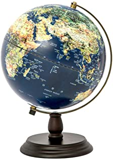 FEE-ZC Explore The World World Globe LED Emboss Illuminated Earth Globe Kids Educational Toys, Office Supplies,Teacher Des...