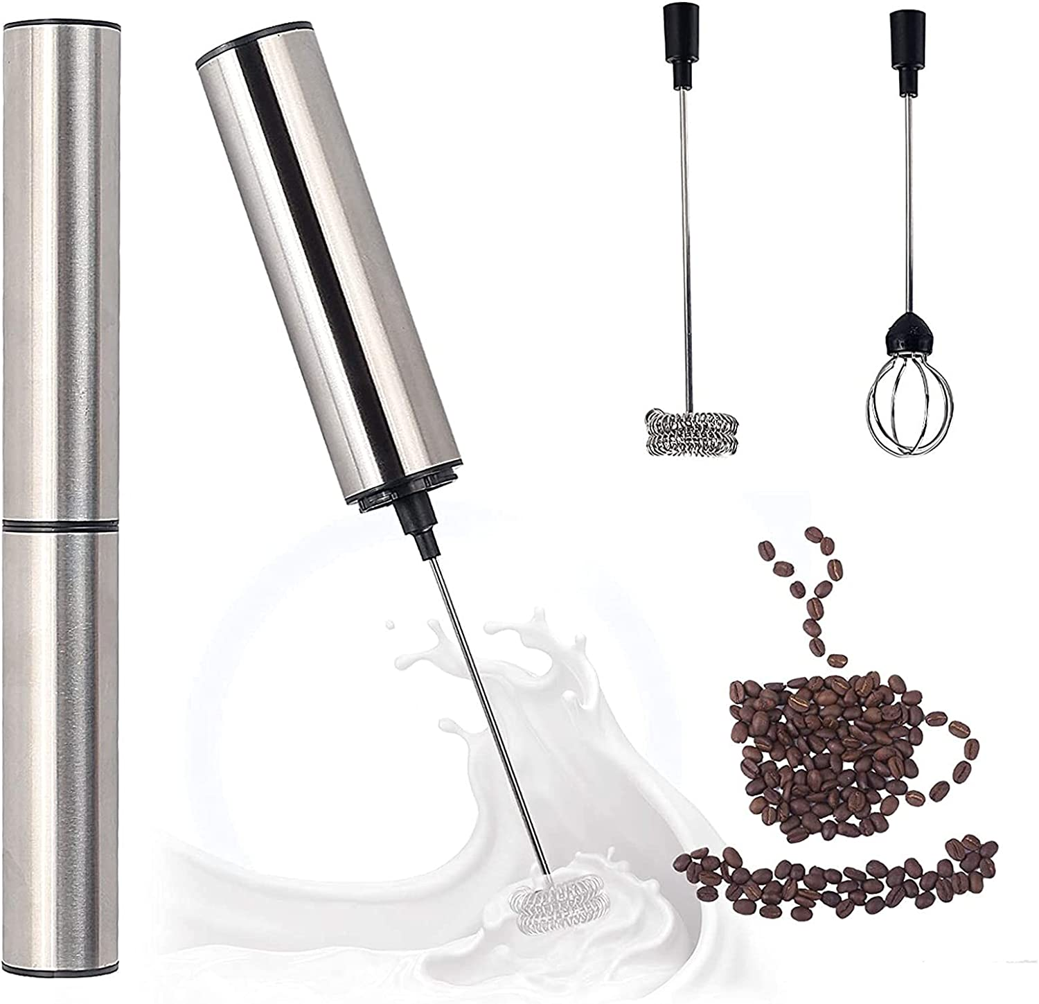 artizan USB Rechargeable Stainless Steel Coffee Frother Foam Mak Columbus Outlet sale feature Mall