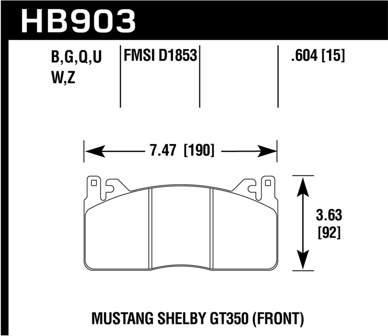 Hawk Performance HB903G.604 Motorsports Brake Popular Max 48% OFF product Pads