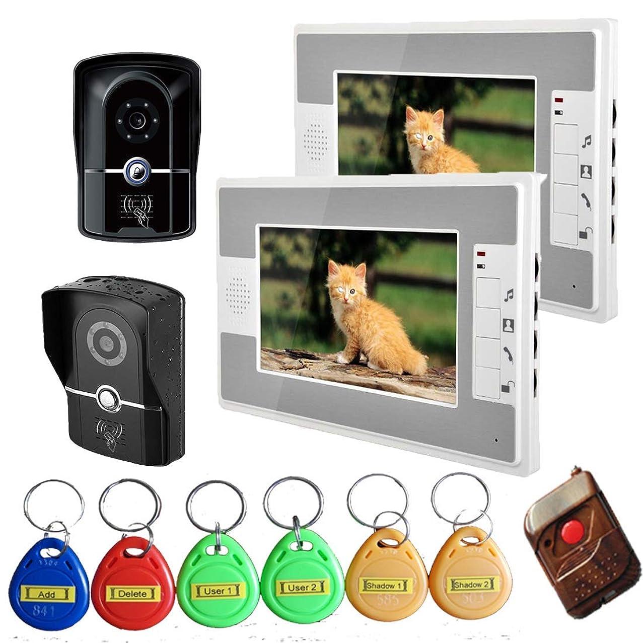 TQ 7 inch Intelligent Video doorbell Remote intercom Access Control System HD 1000TVL Infrared Camera,B