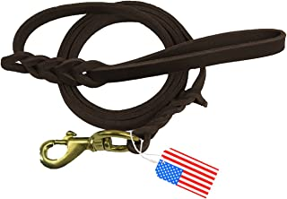Highland Farms Select Premier 6ft Leather Dog Training Leash. Made from Leather and is a Great Option for Hunting Dogs or General Obedience in The Backyard.