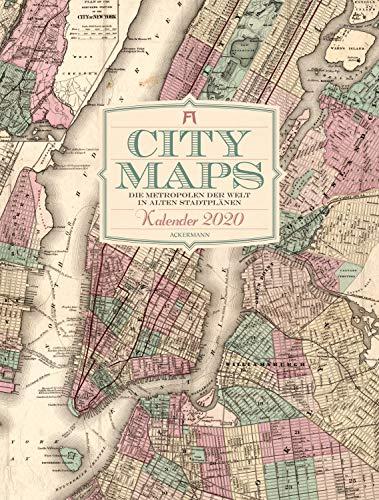City Maps - Die Metropolen der Welt in alten Stadtplänen 2020, Wandkalender auf Naturpapier im Hochformat (50x66 cm) - Mit großformatigen Landkarten