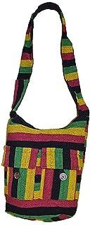 bc8d803081 COOL Rasta Bob Marley Style à rayures Coton fabriquée à la main Sac à  bandoulière