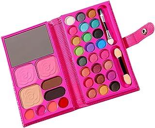 Beaupretty Make-up paletten voor kinderen, 33 kleuren, rode oogschaduw, poeder, beginners, make-upplaat, kinderen, wasbaa...