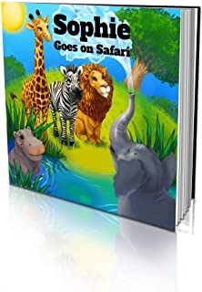 """Personalized Story Book by Dinkleboo -""""The Safari"""" - Teaches Your Child All About Safari Animals - for Children Aged 2 to ..."""