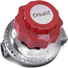 Adjustable 0 to 20psi Propane Regulator Valve QCC LP LPG Gas Stove 1/4 Inlet/1/4 Outlet