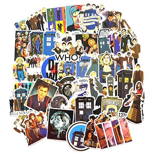 New Doctor Who Stickers Set Lotto di Adesivi Anime per Laptop Bicicletta per Cellulare Chitarra Marvel Pack di Adesivi per Cartoni Animati