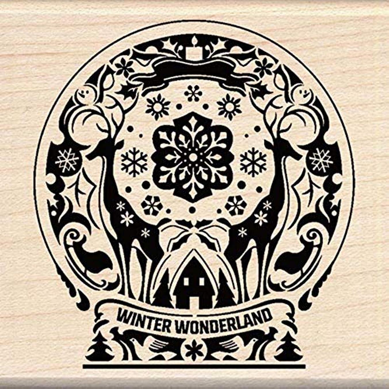 Inkadinkado Mindscape Snow Globe Wood Stamp