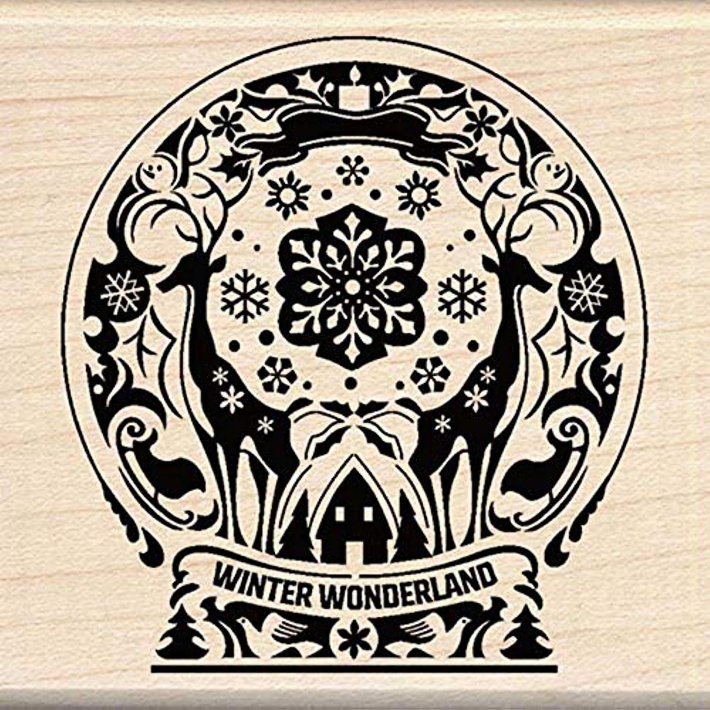 Inkadinkado Mindscape Snow Globe Wood Stamp njcysp647534095