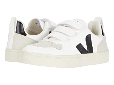 VEJA Kids Small V-12 Hook and Loop (Little Kid/Big Kid) (White/Black) Kid