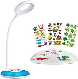 Lámpara de escritorio, HIHIGOU Lámpara de mesa LED 3.2W con Luz de ambiente Multicolor,..