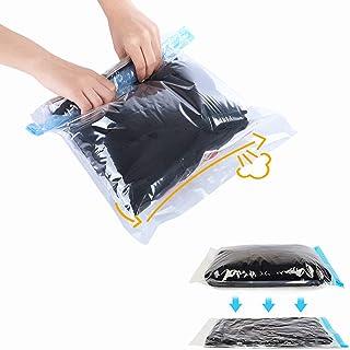 Travel Space Saver Bags Vacuum Travel Storage Bags Reusable Packing Sacks (10 Pack), No Vacuum Pump Needed, Save 80% Lugga...