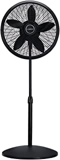 Lasko 1827 18″ Elegance & Performance Adjustable Pedestal Fan, Black –..