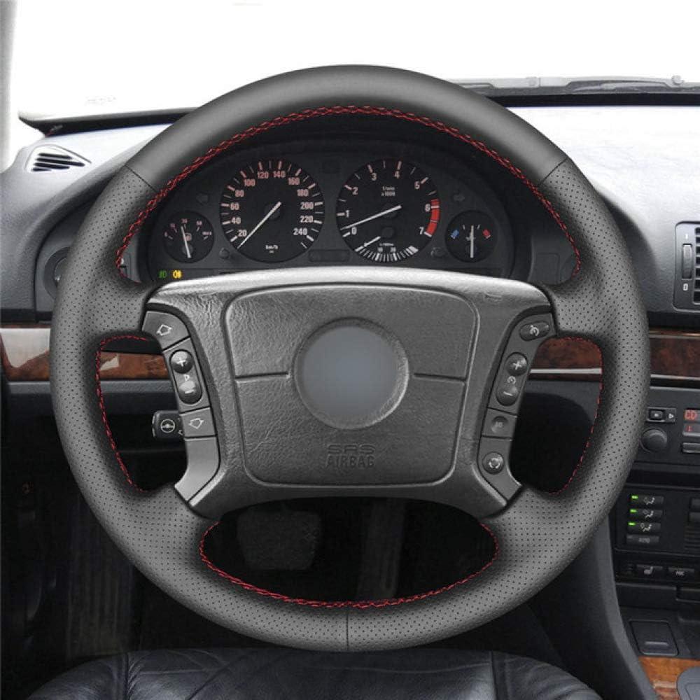 CFHMLK Lenkradabdeckung aus schwarzem Leder f/ür BMW E46 318i 325i E39 E53 X5