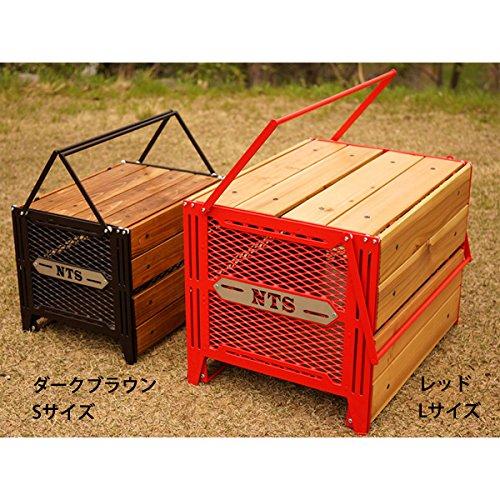 ネイチャートーンズ サイドアップボックス&テーブル L レッド (SBT-R-L) キャンプ テーブル Nature tones