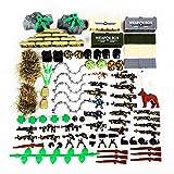 BGOOD Juego de armas militares, 98 unidades, WW2, juego de armas para soldados, minifiguras SWAT, bloques de construcción militares, compatibles con Lego