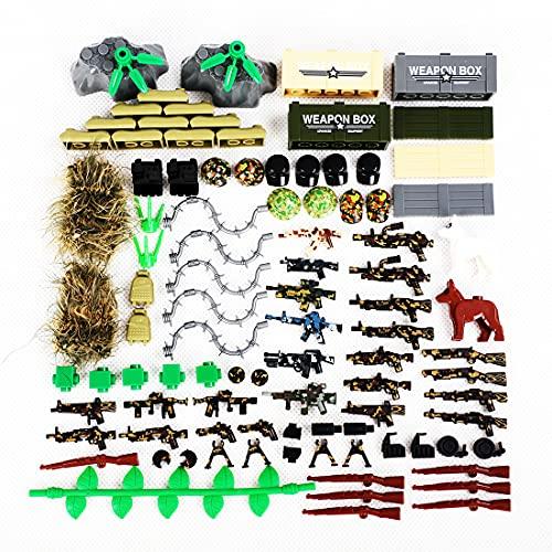 CALEN Ensemble de blocs de construction SWAT de la Seconde Guerre mondiale - Compatible avec les mini figurines Lego