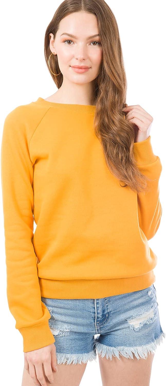 Design by Olivia Women's Basic Soft & Comfortable Pullover Fleece Crewneck Sweatshirt