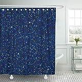 Not applicable Duschvorhang Blau funkelt mit Shine Sapphire Glitter Glamour Style für Ihre Designparty Feiertage Weihnachten Hochzeit Holi Duschvorhang,72X72 In