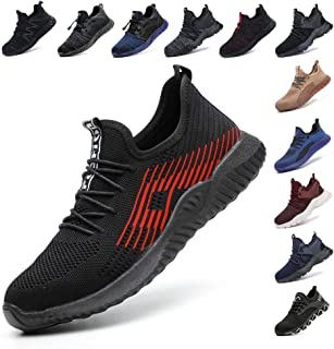 Safety Shoes for Men Steel Toe Cap Trainers Womens Lightweight Work Boots Mesh Breathable Sneakers Black Blue Grey Green P...
