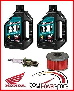 RPM Fits Honda 400EX Tune Up Kit Engine Oil Change NGK Spark Plug Oil Filter TRX400EX