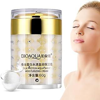 Crema Facial Hidratante con Proteína de Seda Aceite Iluminador Control de Esencia Cosméticos de Belleza