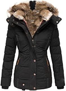 neveraway Womens Coats Warm Casual Sherpa Lined Hooded Winter Down Jacket